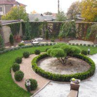 Оформление кругами в ландшафтном дизайне