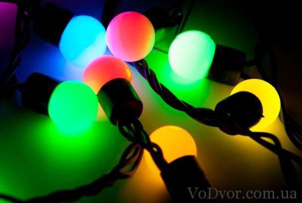 Многоцветная гирлянда светодиодная